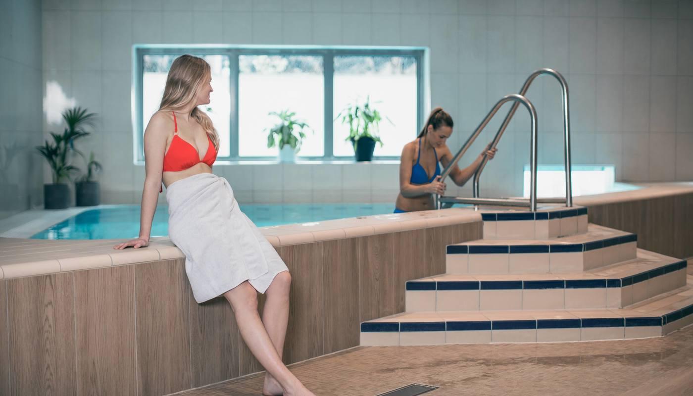 Relax-avdelingen på Vannkanten har basseng både inne og ute